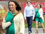 'I read for a part... I wasn't cast': Birthday boy James Buckley and his heavily pregnant wife Clair watch Alpha Papa at cinema