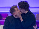 True bromance: Harry Styles and James Corden are seen kissing in an upcoming episode of Sky TV show A League Of Their Own