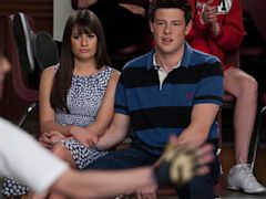 PHOTO: Rachel (Lea Michele, L) and Finn (Cory Monteith, R) watch Artie perform in 'Big Brother' the Spring Premiere episode of GLEE airing April 10, 2012 on FOX.