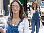 Dangerous denim! Alessandra Ambrosio takes to the streets of New York in dungarees