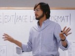 Motivating: Steve Jobs, played by Ashton Kutcher, addresses a room of employees as they discuss what makes Apple stand out