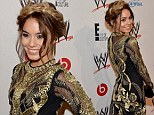 Vanessa Hudgens gets all knotted up at the WWE Superstars For Hope charity event