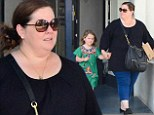 Melissa McCarthy is upstaged by her mini-fashionista Vivan in a colourful smock dress