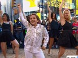On Broadway: Sam Horowitz, whose bar mitzvah dance became an internet hit, danced on GMA on Thursday