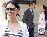 Having fun: Lucy Liu and Jonny Miller had a great time filming Elementary in New York