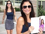 'So excited!' Bethenny Frankel hits the streets in a thigh skimming skirt for book signing in New York