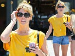Mellow yellow! Ashley Greene puts her toned legs on display while dressing bright to match her sunny disposition