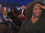 'You get a car!': Oprah Winfrey is in a generous mood on Jimmy Kimmel Live as she surprises one audience member