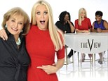 Pictured: Jenny McCarthy larks around with cohosts in her first official photos for The View