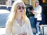 Pamper party: Elle Fanning indulged in a manicure at Pure Nails in Studio City, California on Wednesday
