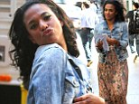 Call the Doctor! Freema Agyeman is heart-stoppingly gorgeous on set of The Carrie Diaries in a flowy summer dress