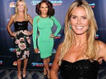 Battle of the busts! Heidi Klum and Mel B try to outvamp one another in figure-hugging frocks at America's Got Talent party