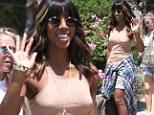 REALLY dressed down... Kelly Rowland stepped out without a bra as she grabbed lunch at Lemonade in Los Angeles, CA on Thursday