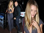 Rosie Huntington-Whiteley and Jason Statham enjoy a night out in London on Thursday evening