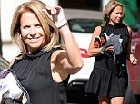 On Thursday, the news anchor revealed her sculpted physique in a summery black frock as she stepped out of her New York City apartment.