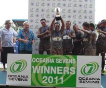 Samoa are crowned 2011 Oceania Sevens Champions