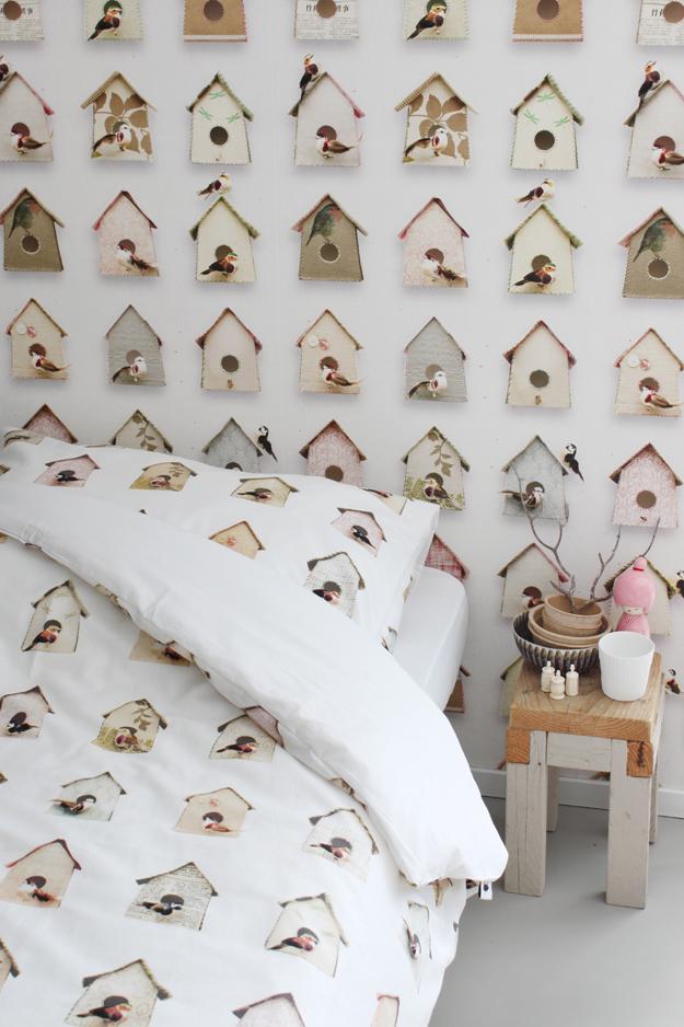 Studio Ditte Birdhouse wallpaper tastesheriff