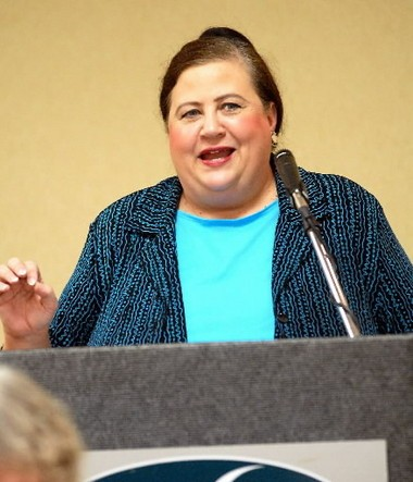 Nancy Worley, a corpulent former Secretary of State