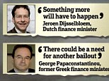 Flying the flag for a bailout: Debt-laden Greece has already received £205bn in emergency funding
