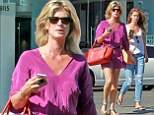 You could be sisters! Rachel Hunter looks fantastic in pink mini dress on shopping spree with model daughter Renee