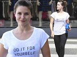 Woman on a mission! Sophia Bush steps out wearing inspirational 'Do it for yourself' T-shirt as she promotes message of equality