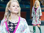 Carrie would not approve! AnnaSophia Robb wears a dressing gown and wellies to lunch on filming break