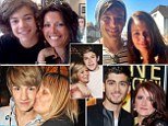 One Direction's Harry Style poses with him Mum Anne Cox