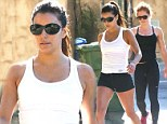 Newly single Eva Longoria tones up at the gym in tiny black shorts following alleged split with Ernesto Arguello