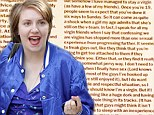 'I've somehow managed to stay a virgin': Lena Dunham posts letter she wrote to sex advice column aged 19