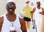 Coffee couple: Eddie Murphy and his girlfriend Paige Butcher got their daily caffeine fix in Beverly Hills together