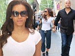 Mel B wears gym clothes to shop at Chanel in New York with her husband Stephen Belafonte