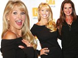 Natural beauties: Christie Brinkley and Brooke Shields showed their age-defying good looks on Friday as they posed together for a photo at an event in East Hampton, New York