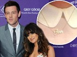 Grieving on and offscreen: Lea Michele wears 'Finn' tribute necklace on the set of Glee season five