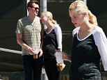 Just the two of us...for now! Jaime King shows off her growing baby bump as she cosies up to husband Kyle Newman on coffee date