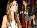 Hills star Audrina Patridge enjoys a British-themed night out at Hooray Henry's in West Hollywood