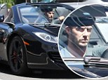 The need for speed: David Beckham takes a spin around Beverly Hills in his McLaren Mercedes sports-car