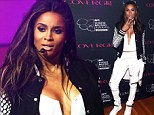 Flawless! Ciara displays her perfectly toned torso in a plunging white corset as she headlines a pre-VMA's event