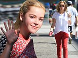 ad Men star Kiernan Shipka showed her flare for fashion as she took a break from filming Flowers in the Attic in Vancouver, Canada