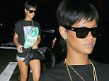 If you've got it, flaunt it! Rihanna carries on that edgy style as she struts her toned legs in cut-off shorts for dinner out