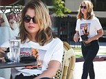 Hardly a rousing reunion! Ashley Benson barely manages to crack a smile as she grabs coffee with ex Ryan Good in LA