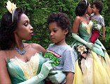 The star was transformed into lovely Tiana from The Princess And The Frog and pitched into the middle of a fairy tale forest as part of the Disney Dream Portraits shot by famed photographer Annie Liebovitz.