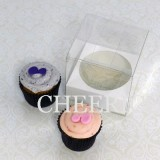 25 sets of Clear Cupcake Box with 1 White Cupcake Holder($1.15 each set)
