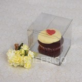 25 sets of Clear Cupcake Box and 1 Silver Cupcake Holder($1.20 each set)