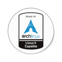 Ready for Arch Linux round sticker