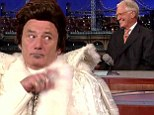 'I'm here for one reason': Bill Murray's Liberace only has eyes for David Letterman on star's Late Show 20th birthday episode
