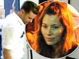 Jessica Biel supports Justin Timberlake as he invites 150 lucky fans behind the scenes of Target commercial shoot