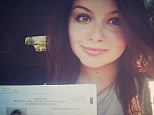 Hitting the road: Modern Family star Ariel Winter, 15, shows off a happy smile as she shares news of earning her driver's permit
