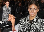 The fashion queen of Oz: Olivia Palermo shows off her bronzed legs in an animal print coat as she steps out down under