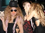 Letting her inner animal out! Lady Gaga dons a pig's snout before giving male fan a passionate kiss he'll never forget
