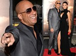 Cooking with Diesel! Vin cannot hide his delight as he shows off girlfriend Paloma Jimenez at Riddick premiere